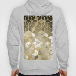 Shades Of Gold Cubes Pattern Hoody