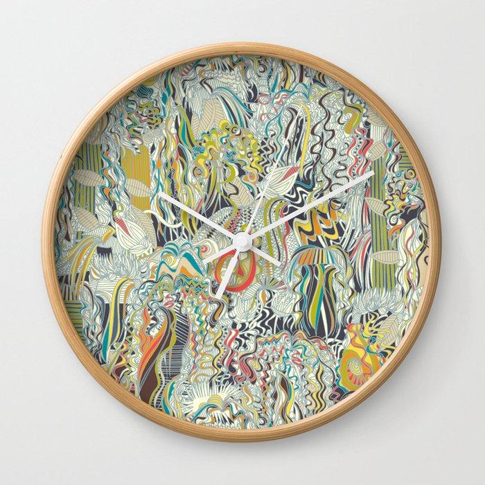 hairspray jungle Wall Clock
