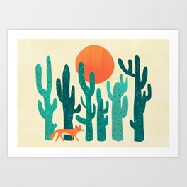 Desert fox Art Print