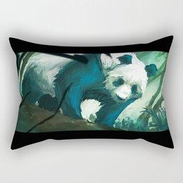 The Lurking Panda Rectangular Pillow