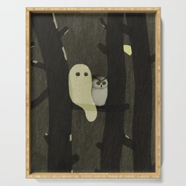 Little Ghost & Owl Serving Tray