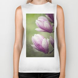 magnolia blooming  on tree Biker Tank