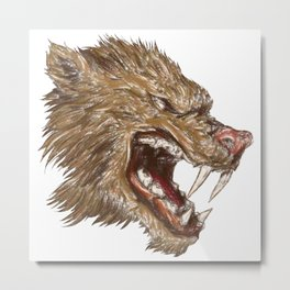 Head with sharp teeth Metal Print