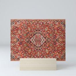 Kashan  Antique Central Persian Rug Print Mini Art Print