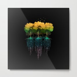 Connection Forest Metal Print