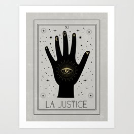 La Justice or The Justice Tarot Art Print