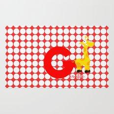 g for giraffe Rug