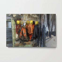 Working clothes, steam locomotives Metal Print