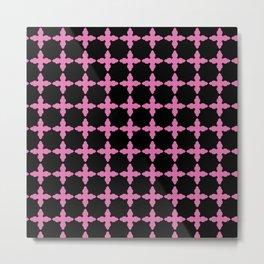 pink and black pattern Metal Print