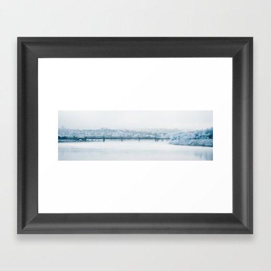 Railyway Bridge, River Usk Framed Art Print
