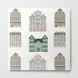 City Houses in Pastel II Metal Print