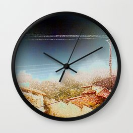 Cotton Flakes Wall Clock