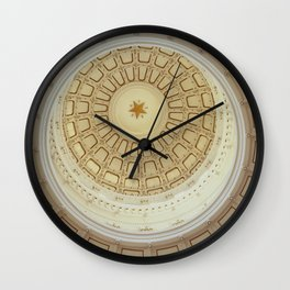 The rotunda ceiling of the Texas capitol in Austin Wall Clock