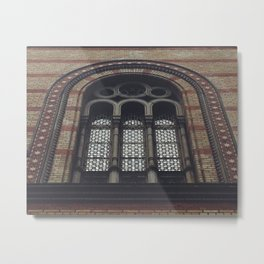 Synagogue Window Metal Print