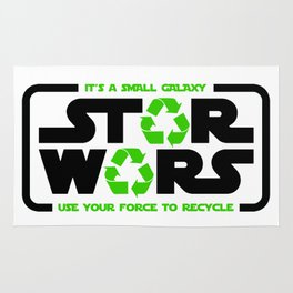 Star - Use your force to recycle - Wars Rug