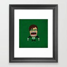 Screaming Green Lantern Framed Art Print