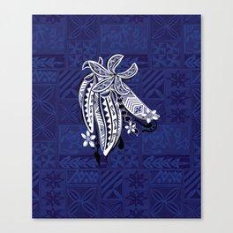 Hawaiian - Samoan - Polynesian Tribal Threads Print Canvas Print
