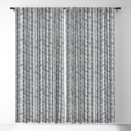 Bamboo Forest Pattern - Grey Blue White Blackout Curtain