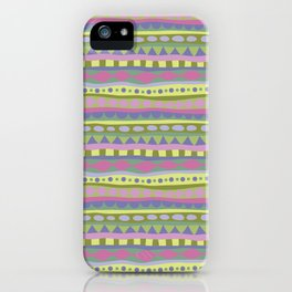Stripey-Fairytale Colors iPhone Case