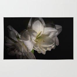 White Amaryllis Rug