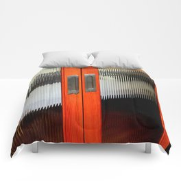Ribbed Glass Doors - A Half Made Bed Comforters
