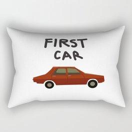First car Rectangular Pillow