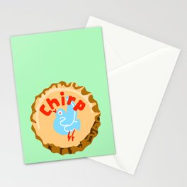 Chirp bottle cap lefty Stationery Cards