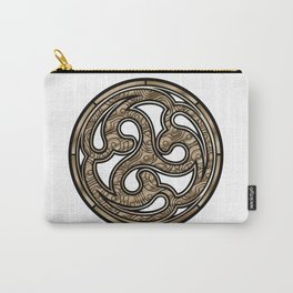 Bronze Medallion Carry-All Pouch