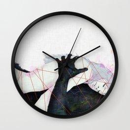 Lovers_over the rainbow Wall Clock