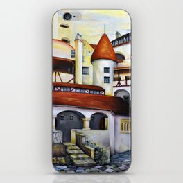 Dracula Castle - the interior courtyard iPhone Skin