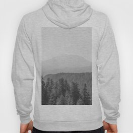 Lookout Ridge - Black and White Mountain Nature Photography Hoody