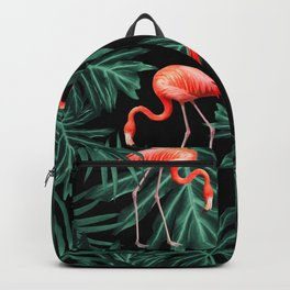 Summer Flamingo Jungle Night Vibes #2 #tropical #decor #art #society6 Backpack