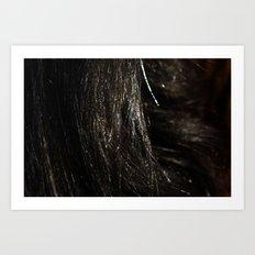 brunette Art Print