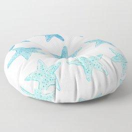 Blue Watercolor Starfish Floor Pillow