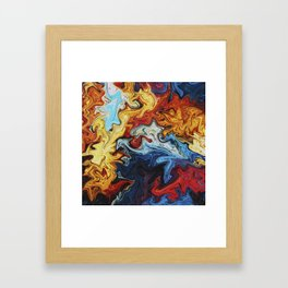 Night's Bright Colors - Color Liquid in Water Framed Art Print