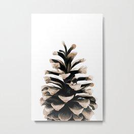 Pinecone Winter Art Metal Print