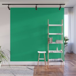 Jade Green Solid Color Wall Mural