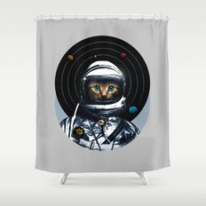 Space Kitten Shower Curtain