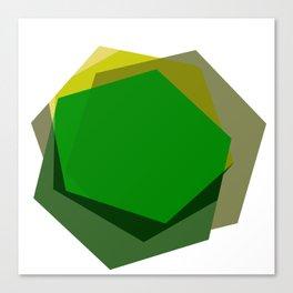 Green Hex Canvas Print