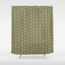 Pangnupark Hippo Bear Khaki Green Shower Curtain