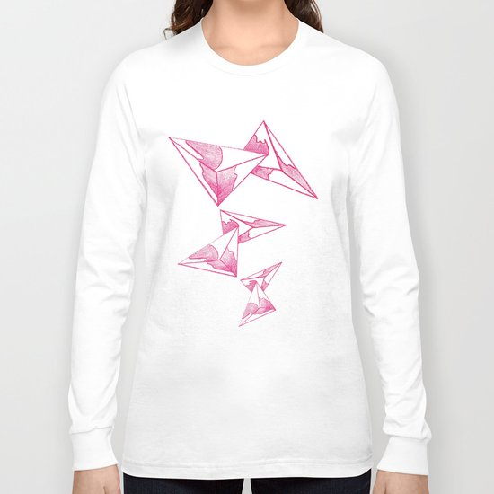 CRAYON LOVE: Strawberry Milk From The FUTURE Long Sleeve T-shirt