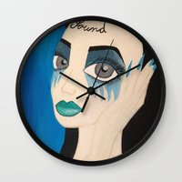 sound Wall Clocks featuring Sound by Monika Safirowska
