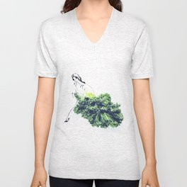 Edible Ensembles: Kale Unisex V-Neck