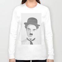 chaplin Long Sleeve T-shirts featuring Chaplin by Beitebe