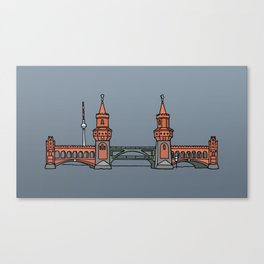Oberbaum Bridge in Berlin Canvas Print