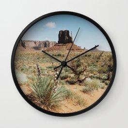 Blooming Southwest Desert Yucca Wall Clock