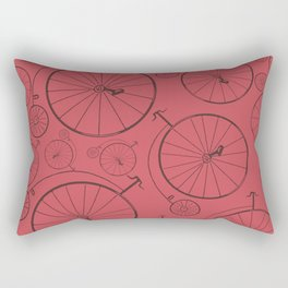 Vintage cycle red Rectangular Pillow