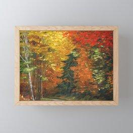 Fall Drive, New England Framed Mini Art Print