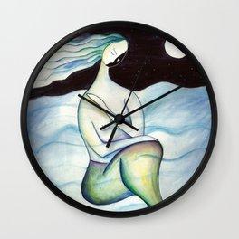 Mermaid at night Wall Clock