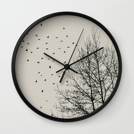 Come On Home - Graphic Birds Series, Plain - Modern Home Decor Wall Clock